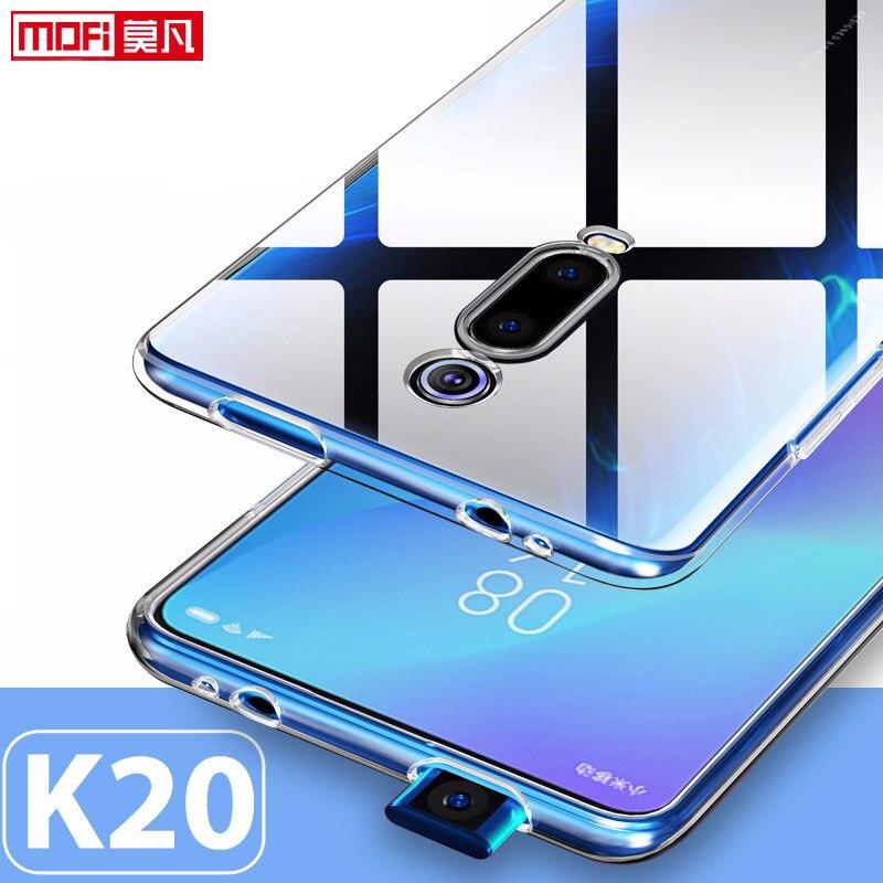 Xiaomi Redmi caso K20 K20 pro caso Capa de Silicone Ultra Fina Mofi Funda Volta Transparente Claro 6.39 Xiaomi Redmi K20 PRO caso