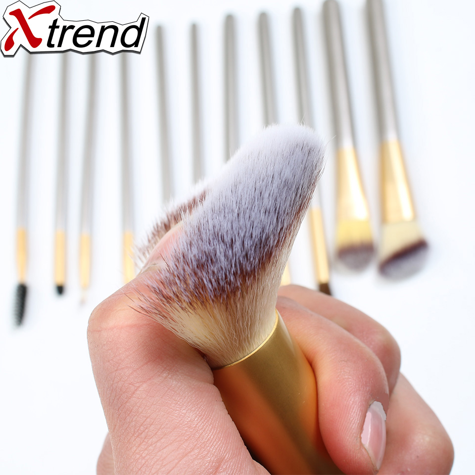 New Brand Makeup Brushes With Beautiful Fresh Synthetic Hair Set Kits 12/18/24pcs Healthy Wood Handle Make beauty More Natural