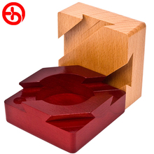 3D Russia Ming Luban Magic Box Educational Toy Wood Puzzles For Lovers Kids Brain Teaser Children Hot Birthday Gift