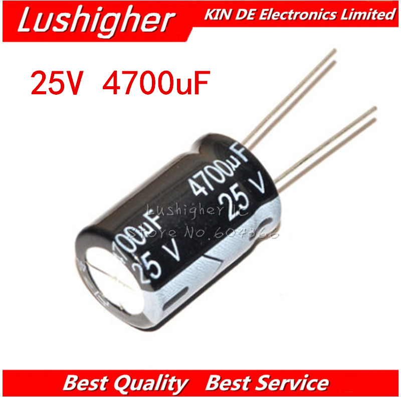 5PCS 25V4700UF 16*25mm 4700UF 25V 16x25 Mm Aluminum Electrolytic Capacitor DIP