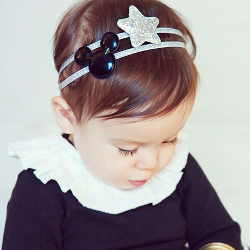 new festival headbands hair clip hair accessories headband clips star Mickey newborn headwear girls headbands fascinator