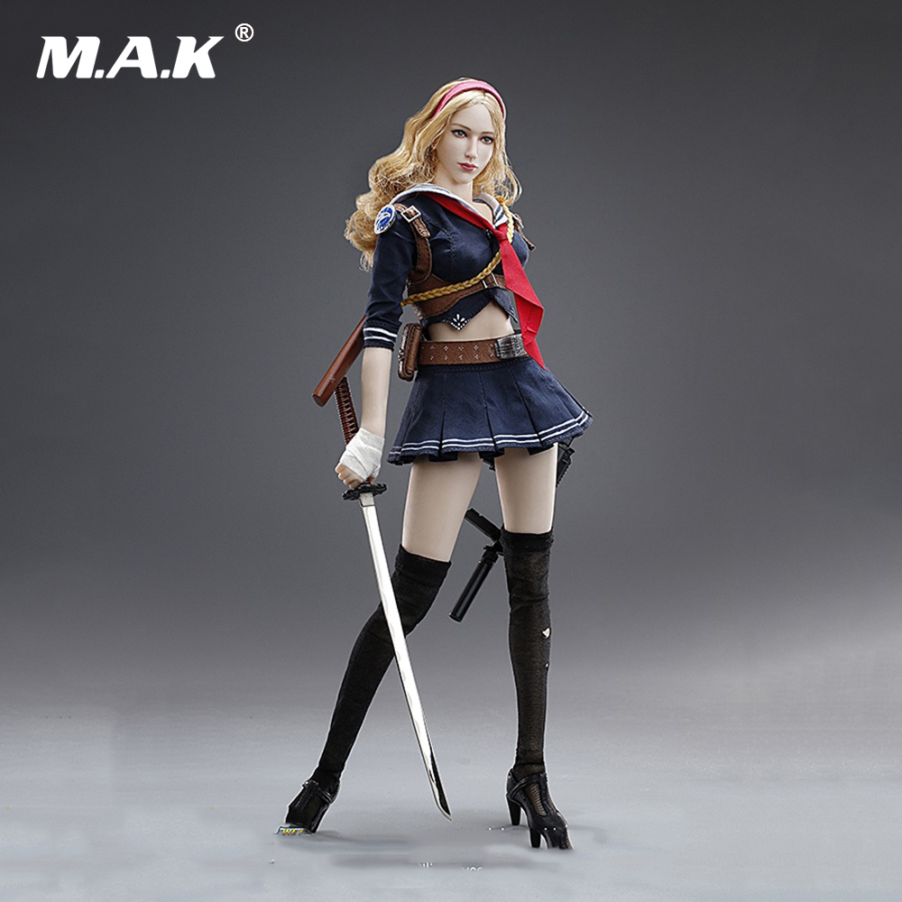 1/6 Scale Full Set Female Action Figure Blade Girl Wefire of Tencent Game Third Bomb Model Toys for Collection Gift 1 6 scale full set male action figure kmf037 john wick retired killer keanu reeves figure model toys for gift collections