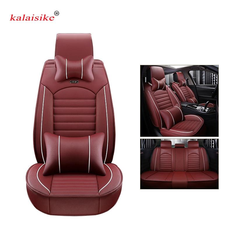 Housses de siège de voiture universelles en cuir Kalaisike pour Ford tous les modèles focus fiesta s-max mondeo explorer ecosport style de voiture - 4