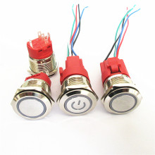 цена на 22MM Metal Button Power Self-reset Switch Self-locking Circular Waterproof Small Switch 9V-24V 5A