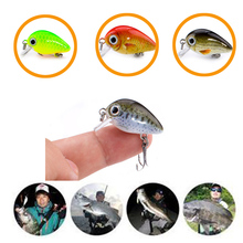 Bimmor 1Pcs/Lot 1.8g 3cm Topwater 0.1-0.5m Wobbler Japan Mini Crankbait 1Baits with Plastic Box Fly Fishing Lure Crazy