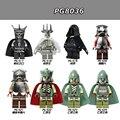 80 unids/lote PG8036 Figuras Haldir Terill Hobbit Elrond Elf Prince Capitán líder Guardia Bosque Negro Legoelied Bloques de Construcción Juguetes