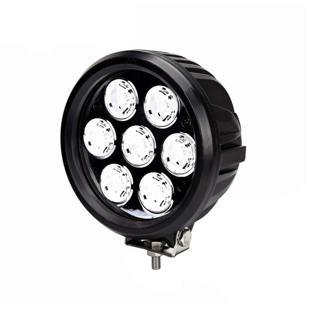 Image 4 - XuanBa 2Pcs 6 inch 70W Round Led Work Driving Light For Atv Truck Tractor 4x4 Offroad SUV Fog Lamp 12V 24V Spot Flood Roof Light-in Light Bar/Work Light from Automobiles & Motorcycles