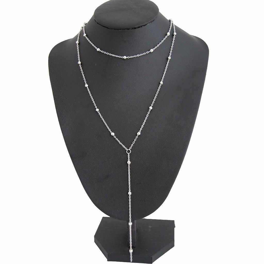 Stylish Pendant Necklace Women Boho Ladies Jewelry Collier Gothic Kolye Tassel Chain Choker Girls collares de moda 2019 L0507