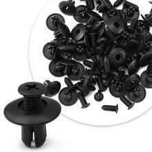 Fixadores automotivos de 8mm, para choque, rebite, clipe de fixação para toyota alion corolla im e170 e140 e150 3 mark 2 mark x matrix 1 2 plataforma