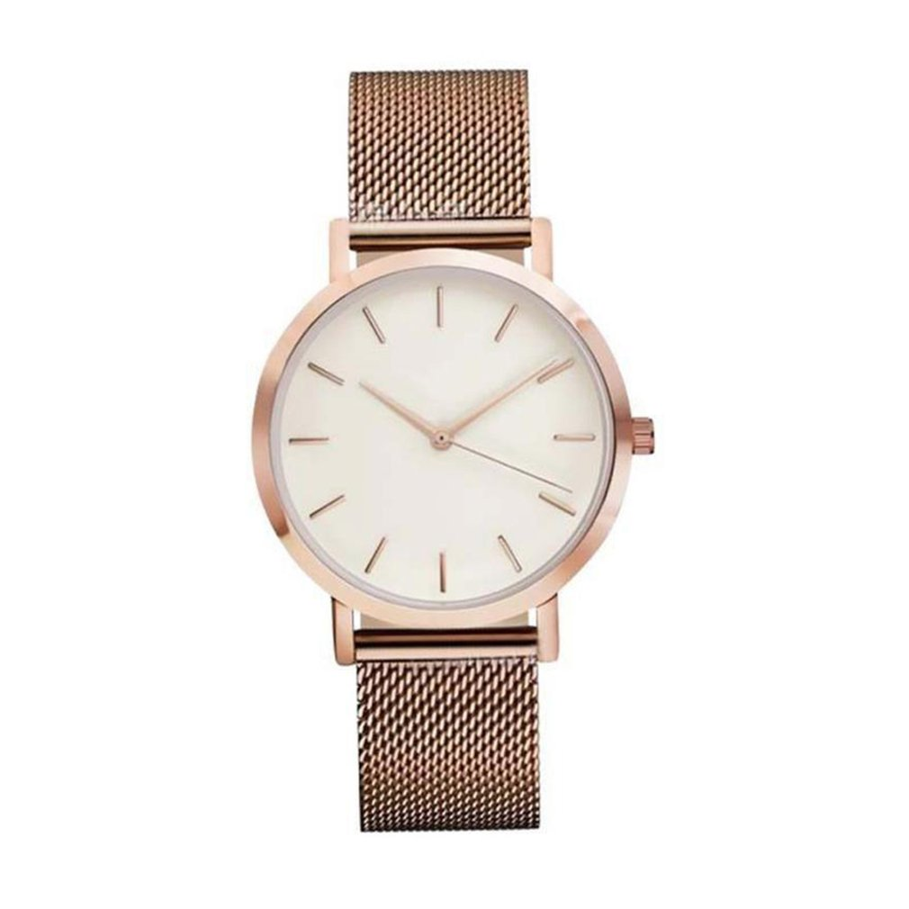Women's Sleek Minimalist Stainless Steel Strap Men Woman Watch Outdoor Watch Quartz Wrist Watch полотенце махровое мойдодыр 40х70