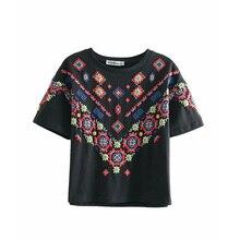 Printed Floral T-shirt Summer Female Fashion Short Casual Indie Folk Tops Tees O-Neck Basic Wild T-shirt Women Casual Clothing scoville samuel wild folk
