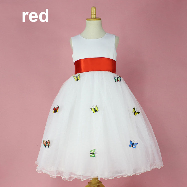 fancy kids baby girls clothing party frocks for 3-8y toddle kids clothes summer girls dress flower girl pageant dresses costume