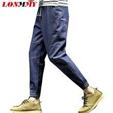 4c76e7c0278 LONMMY 5XL обтягивающие джинсы мужские хлопок 45% хип-хоп брюки шаровары  мужские укороченные брюки