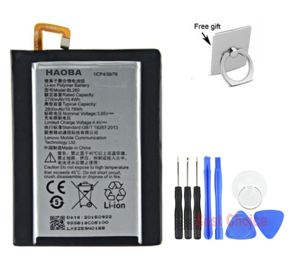 "imágenes para S1 genuino BL260 2700 mAh Batería Para Lenovo VIBE Lite; Original BL260 Batería para 5.0 ""Lenovo VIBE Lite S1 + Regalo + Herramientas Gratuitas"