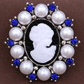 3 pcs /lot NEW Vintage Brooch pins Perfect Design Elegant Beauty Cameo brooches pin For Women Jewelry Brooches gift