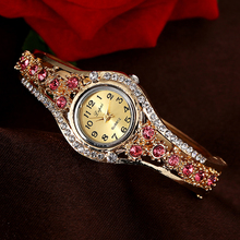 Lvpai Brand Luxury Bracelet Watches Women Gold Fashion Flower Crystal Watch Casual Ladies Quartz Wristwatch Party Accessories