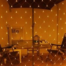 LED Net licht 3*2M 6*4M LED Mesh Fee String Licht Weihnachten EU 220V party Hochzeit Neue Jahr Girlande Outdoor garten Dekoration
