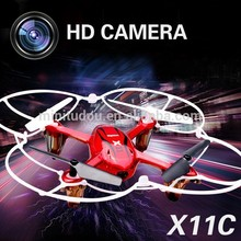 Free Shipping Hot Sell China Wholesale RC Quadcopter Outdoor UFO drone Toys SYMA X11C 2.4G 4CH 6 Axis Gyro Frame Dron camera