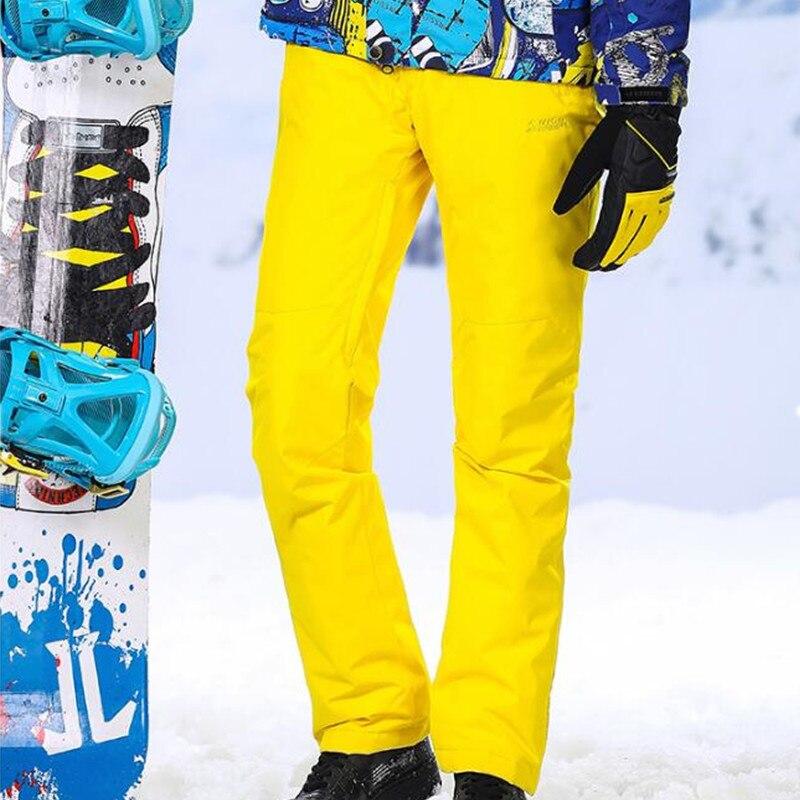 Hiver Hommes de Sport Pantalon Hommes de Ski Pantalon Pantalon de Snowboard Pantalon Hommes D'hiver Imperméables Hommes Épaissir Neige Pantalon 46-56