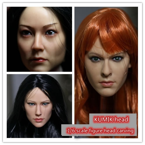 1/6 scale female head shape for 12 action figure doll accessories doll head carved not include body,clothes and other KM15 1 6 scale female head shape for 12 action figure doll accessories doll head carved not include body clothes and other km15