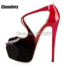 Hot Brand Women's Cross Strap Shoes Pumps 14 cm High Heel Sexy Peep Toe Sandals wedding Stilettos High Heels Spike Shoes