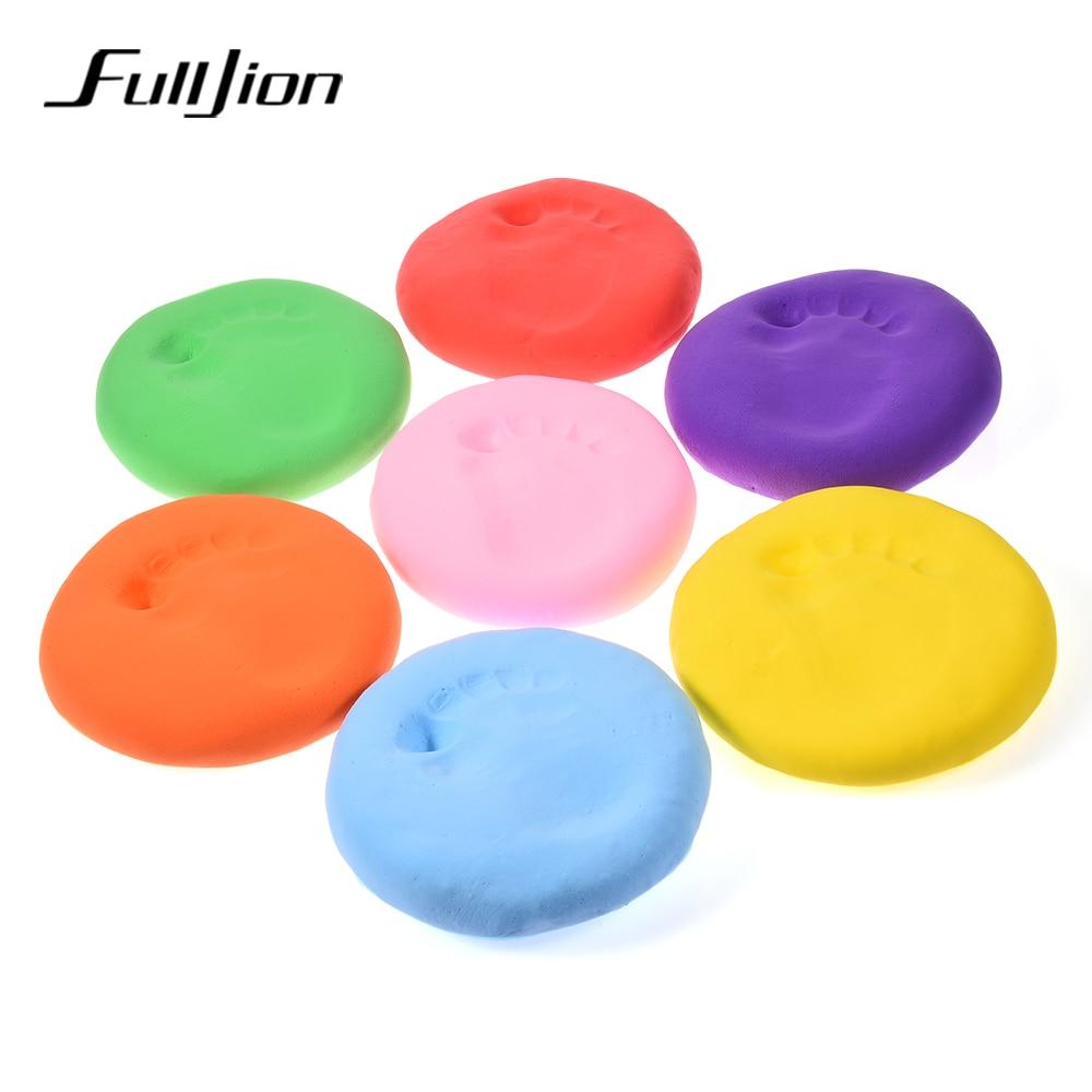 Fulljon-9-Color-baby-care-Air-Drying-Soft-Clay-Baby-Handprint-Footprint-Imprint-Kit-Casting-Parent-child-hand-inkpad-fingerprint-1