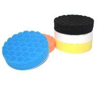 5 шт. 5 дюймов Высокое качество смешивания Цвет Полировка пены губка полировки Pad набор для автомобиля полировщик
