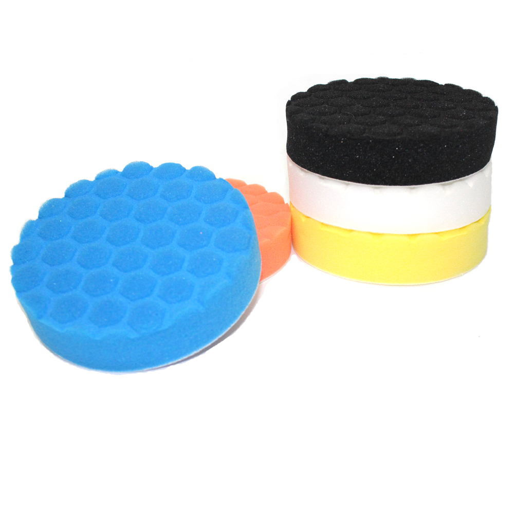 5 Pcs 5 inch Professional Quality Mix Color Buffing Foam Sponge Polishing Pad Set For Car Polisher makeup sponge 5 pcs