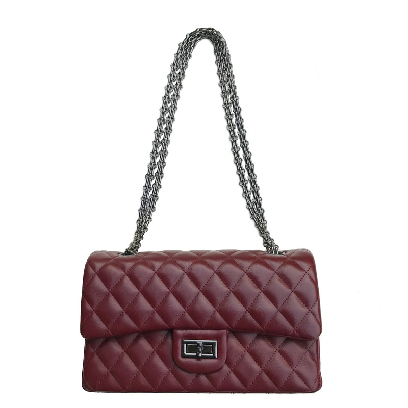Hot Sale Classic Type Luxury Brand Design Women Handbag High Quality Diamond Lattice Single Shoulder Bag 25cm Trendy Chain Flap hot sale quality guarantee  nbb15 u1 z2 inductive type