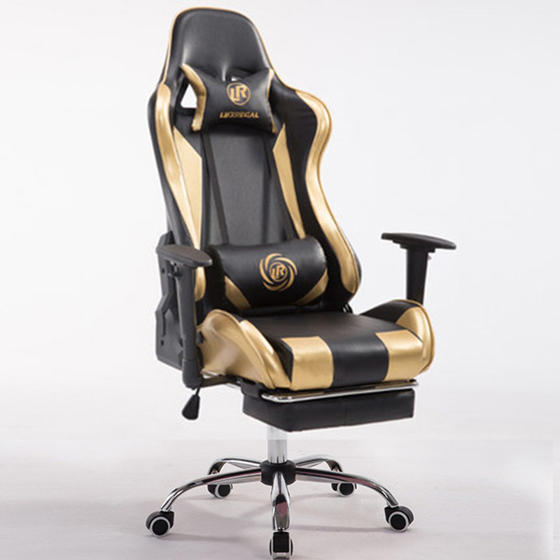 Home office computer chair cortical boss can lie swivel chair boss chair real leather computer chair home massage can lie in the leather chair solid wood armrest office chair 26