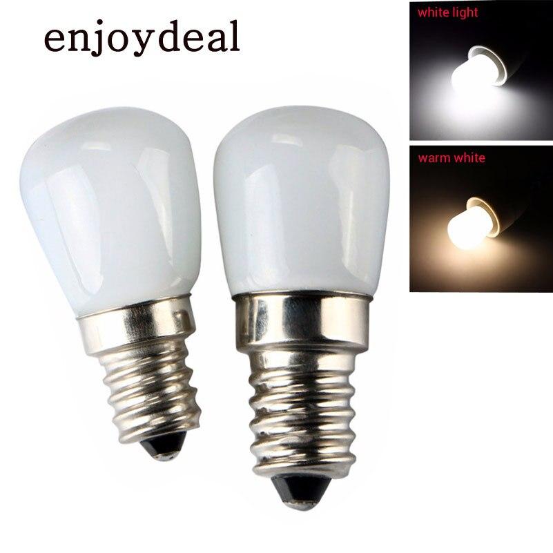 Led Light 220v 110V E14 E12 2W Lamp Mini Energy Saving Refrigerator Freezers Glass Spotlight Bulbs Home Warm White / White Light