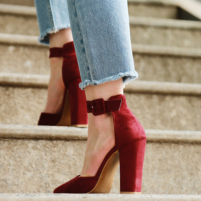 2018 Sexy Classic High Heels Women's Sandals Summer Shoes Ladies Strappy Pumps Platform Heels Woman Ankle Strap Shoes 18