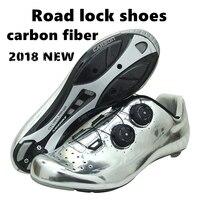 2018 Новый профессиональный дорога езда на велосипеде углеродного волокна материала замок обувь ультра легкий дышащий завернутый маршрут ве
