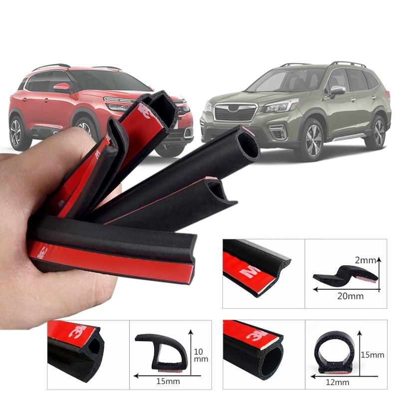 Car-styling 2Meter B Z P D Type Car Rubber Seal Sound Insulation Weatherstrip Edge Trim Noise Insulation Car Door Sealing Strip