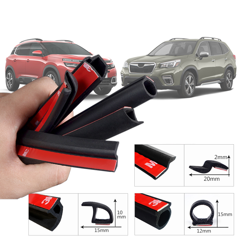 Car-styling 2Meter B Z P D Type Car Rubber Seal Sound Insulation Weatherstrip Edge Trim Noise Insulation Car Door Sealing Strip image