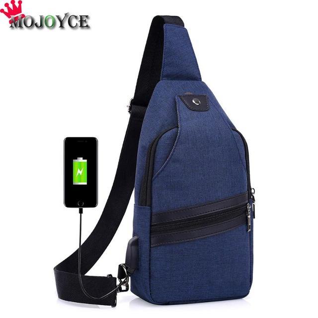 Brand Large Capacity Chest Canvas Zipper Womens Messenger Bags