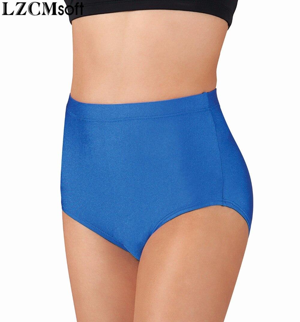LZCMsoft Womens Royal Blue Jazz Spandex Dance Shorts Lycra Ballet Workout Exercise Shorts Dance Bottoms Dancer Underwear Girls