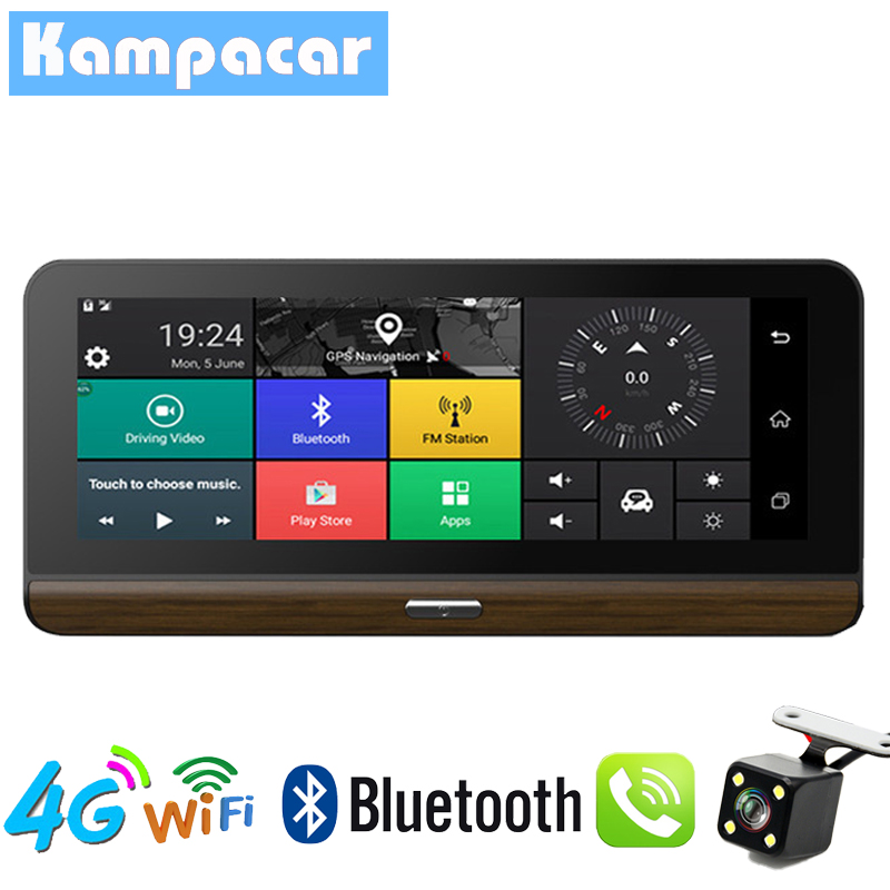 Kampacar 4G Wifi Car DVR Dash Camera Mirror GPS Navigation Video Recorder Dual Lens Dash Cam ADAS Two Dvrs Full HD 1080P Cameras