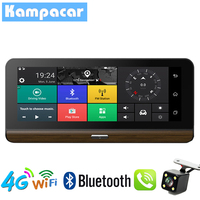 Kampacar 4G Wifi Car DVR Dash Camera Mirror GPS Navigation Video Recorder Dual Lens Dash Cam ADAS Two Dvrs Full HD 1080P Cameras