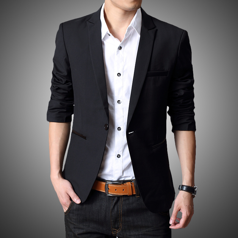 Men's Blazers A well-fitting blazer jacket is the mark of a gentleman who is well established in the fashion game. Work appropriate blazers give you the confidence you need to get the job done right.