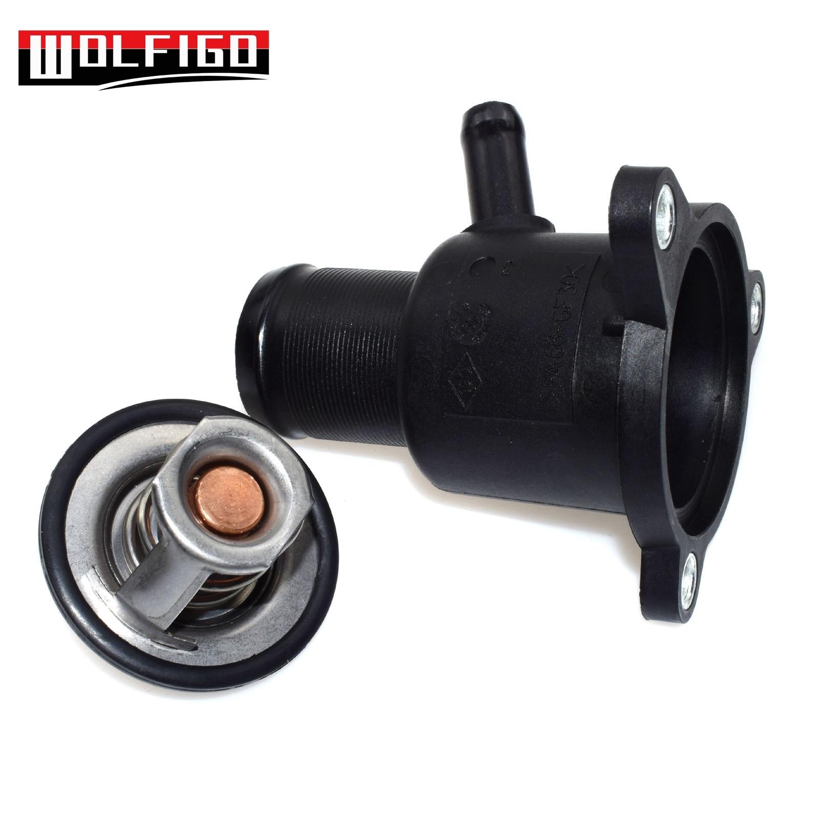 wolfigo new engine coolant thermostat w gasket 902 954 fit nissan renault clio ii kangoo dacia duster 8200561420 7700101179 [ 1600 x 1600 Pixel ]