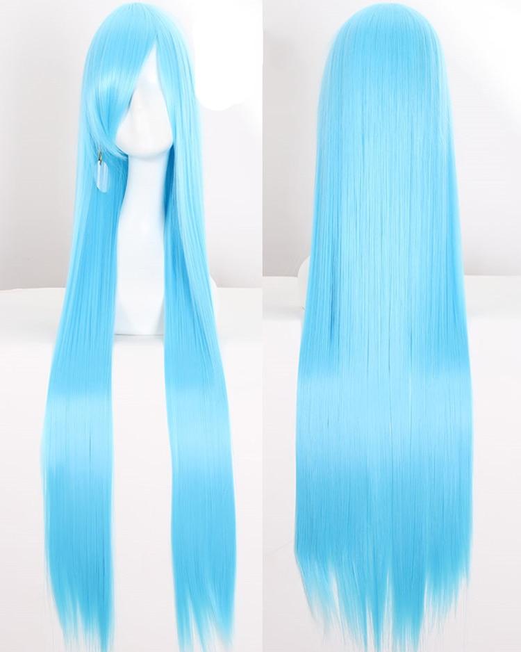 Semelhante peruca de cosplay sintética, peruca longa
