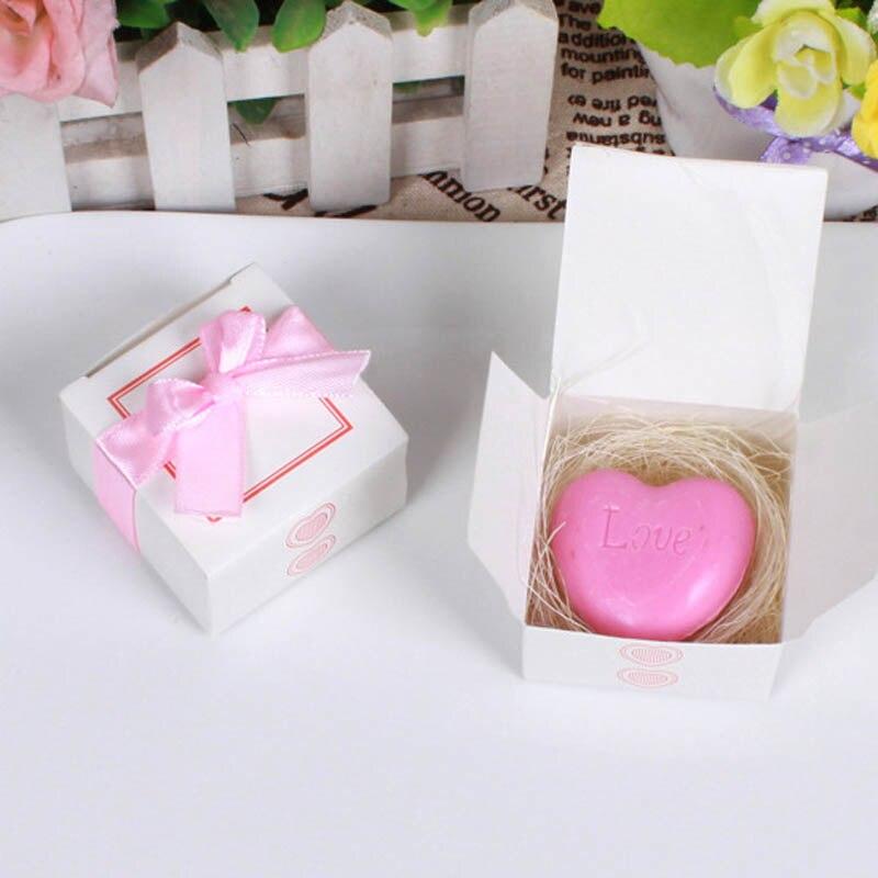 20 шт./лот мини-мыло ручной работы с ароматом для сувенир для свадебной вечеринки и детского душа подарок Свадебные сувениры Мыло для купания - Цвет: pink heart