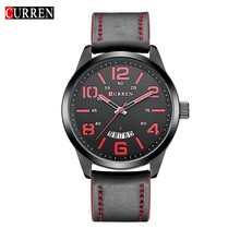 CURREN Moda Reloj Superior de la Marca de Lujo de Los Hombres de Malla de Banda Reloj Ultra Delgado Diseñador Dial negro Reloj de pulsera de Cuarzo reloj hombre xfcs