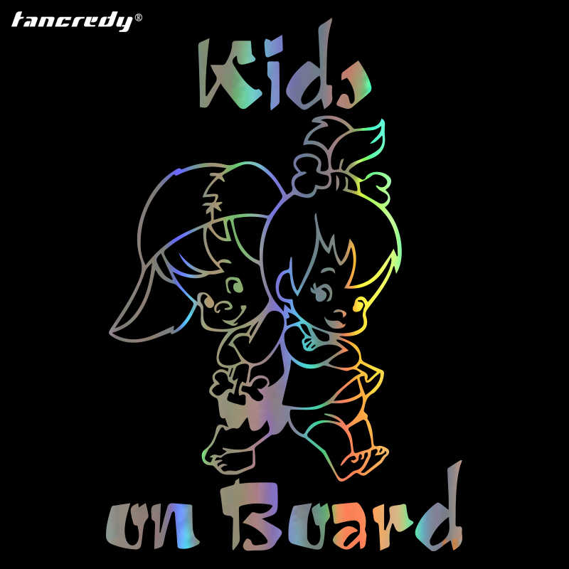 Tancredy KIDS BABY AAN BOORD Creatieve Mode Auto Sticker Decals Auto Styling Decoratie Deur Body Window Waarschuwing Teken carsticker