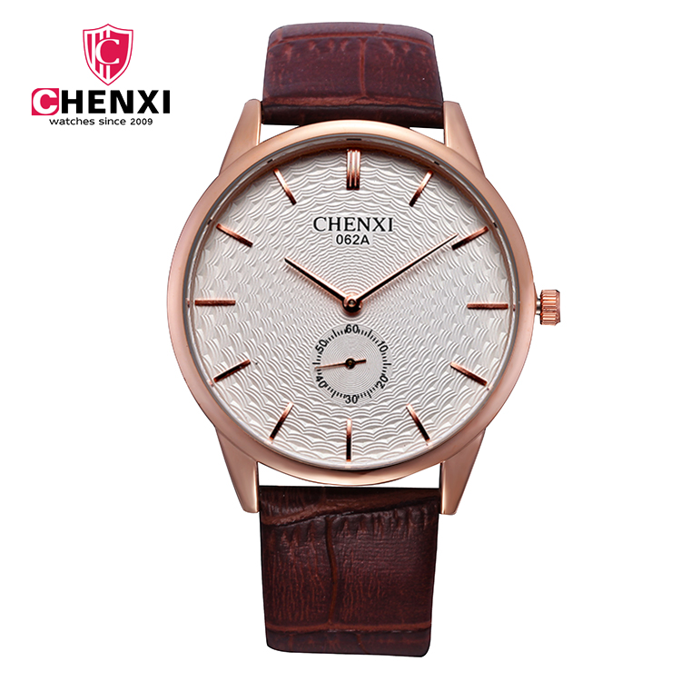 CHENXI Women Watch Steel Bracelet 30M Daily Waterproof Watches Quratz Rose Gold Watch 062A Men Women Watch Wristwatch Women Sale