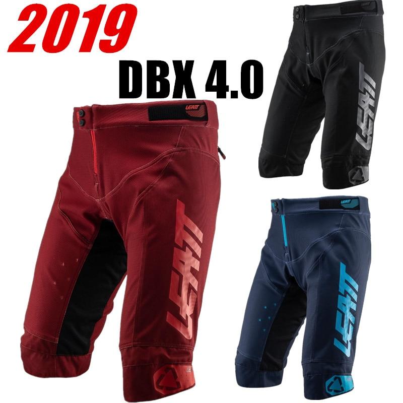 LEATT 2019 DBX 4.0 Ruby Top quality MTB   Shorts   Mountain Bike   Short   Motocross Navy Bicycle Cycling   Short