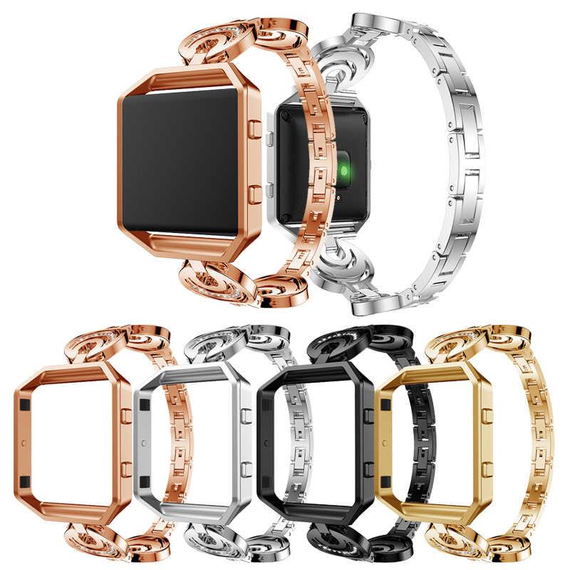 Untuk Tali Fitbit Blaze dengan Bingkai Pelindung Anti Karat Tali Penggantian Aksesori Tali untuk Fitbit Blaze Pintar Jam Tangan