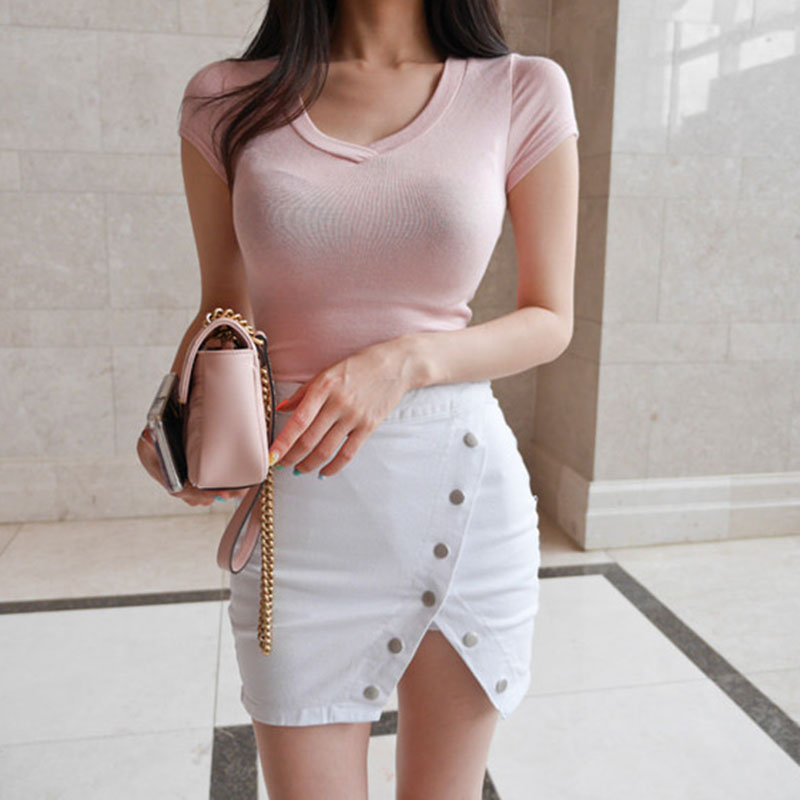 sexy V-Neck t shirt women t-shirt tee shirt femme summer tops for women 2018 camisetas mujer woman tshirt top white t shirts