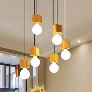 Nordic led wood pendant light